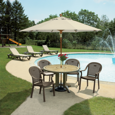Sumatra Classic Stacking Dining Armchair - Poolside Seating