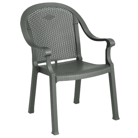 Sumatra Classic Stacking Dining Armchair - Charcoal
