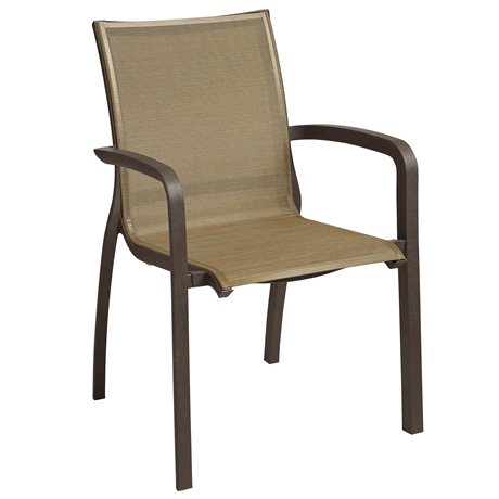 Sunset Stacking Armchair - Fusion Bronze Frame with Cognac Sling