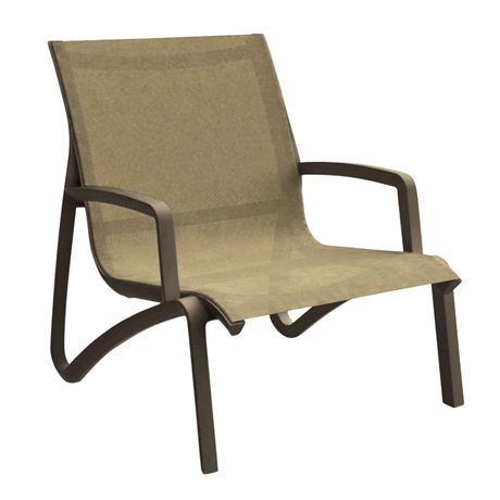 Sunset Lounge Chair - Fusion Bronze Frame with Cognac Sling