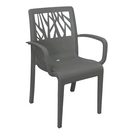 Vegetal Stacking Armchair - Charcoal