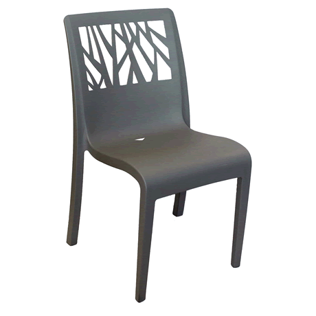 Vegetal Stacking Side Chair - Charcoal