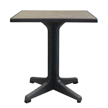 Omega Pedestal Table with Charcoal Base