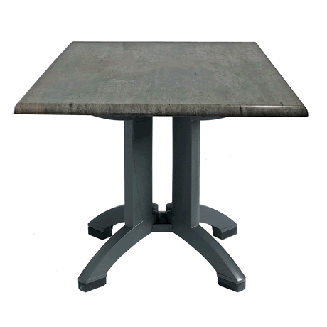 Atlanta Molded Melamine Table with Charcoal Legs