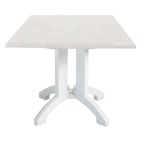 Atlanta Molded Melamine Table with White Legs
