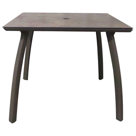 Sunset Square Table - Lave Top on Fusion Bronze Base