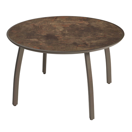 Sunset Round Table - Lava Top on Fusion Bronze Base