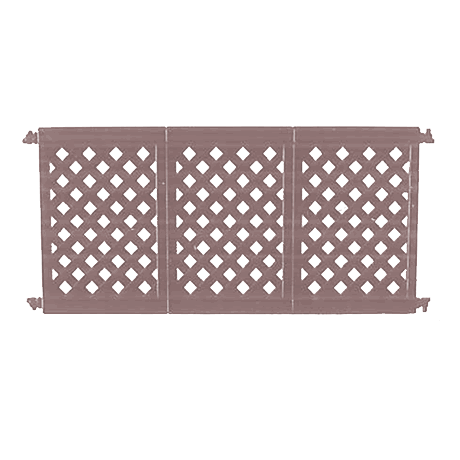 Decorative Patio Fencing 3 Panel Section with Connectors