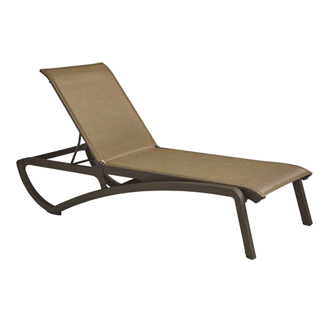 Sunset Chaise Lounge - Fusion Bronze Frame with Cognac Sling