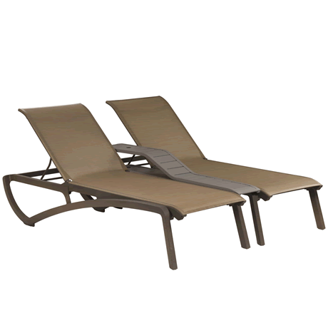 Sunset Twin Console - Fusion Bronze Frame with Cognac Sling