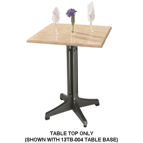 Grosfillex Molded Melamine Table Top - 24 In. Square-Table Tops
