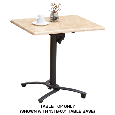 Grosfillex Molded Melamine Table Top - 24 In. x 32 In.-Table Tops