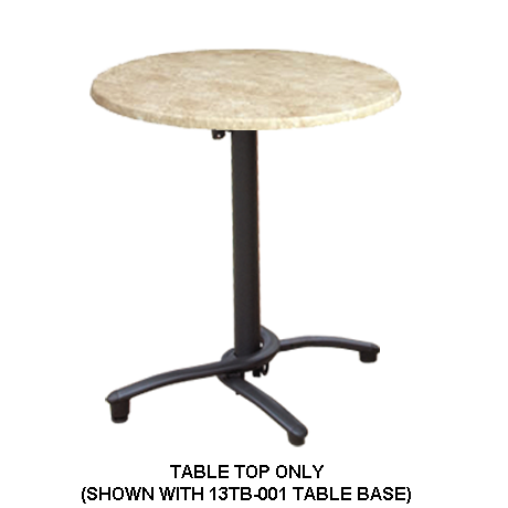 Grosfillex Molded Melamine Table Top - 30 In. Round-Table Tops