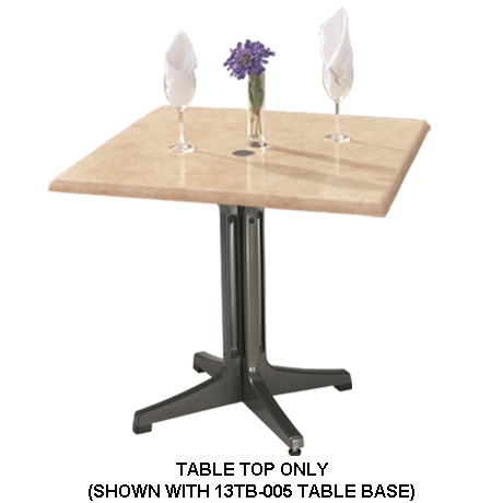 Grosfillex Molded Melamine Table Top - 36 In. Square-Table Tops