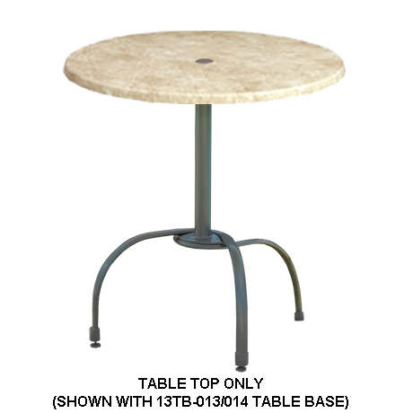 Grosfillex Molded Melamine Table Top - 42 In. Round-Table Tops