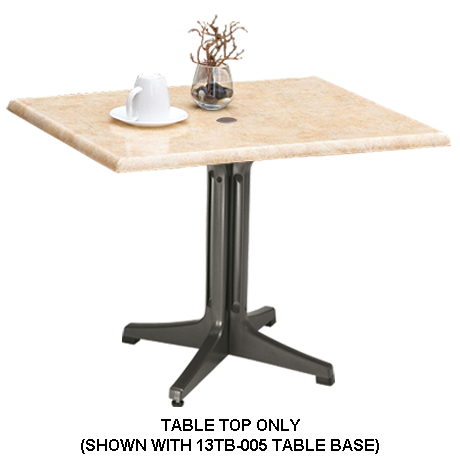 Grosfillex Molded Melamine Table Top - 48 In. x 32 In.-Table Tops