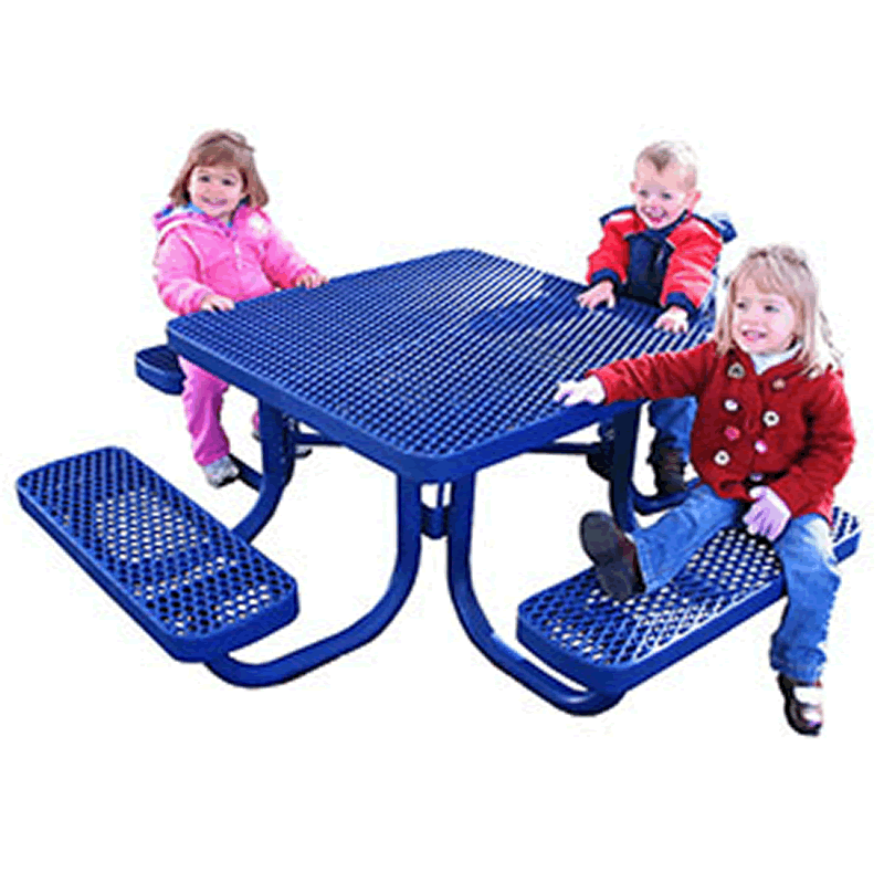Champion Kids Series Square Picnic Table - Free Standing - 3' Top