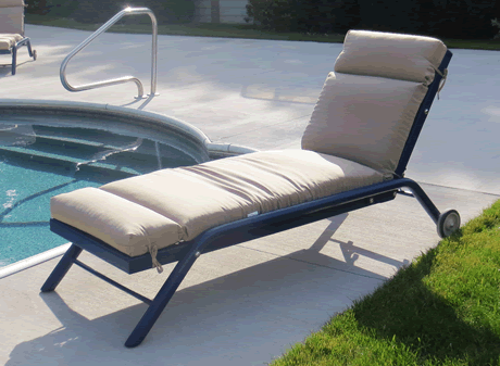Chaise Lounge with Adjustable Back Rest, Expanded Metal