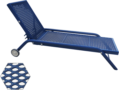 Chaise Lounge with Adjustable Back Rest