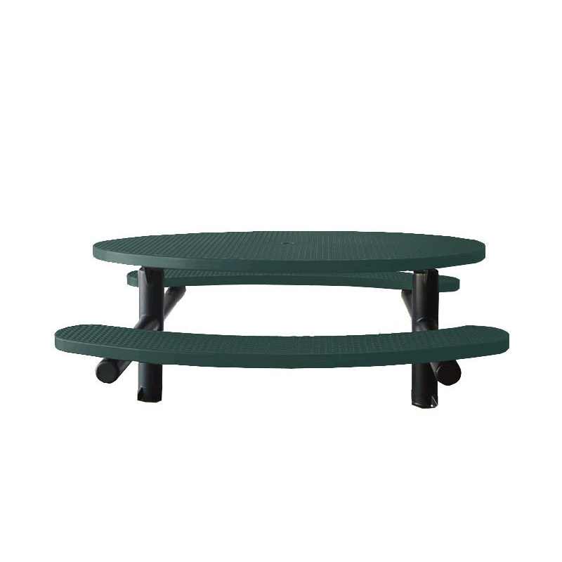 Champion Series Oval Picnic Table - Double Pedestal