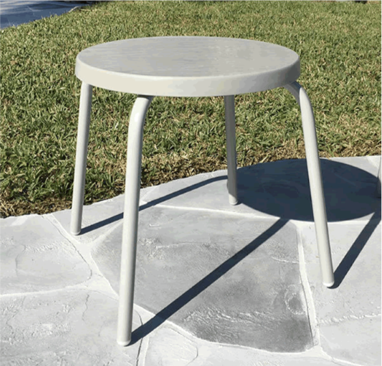 "18"" Round Fiberglass Top Side Table"