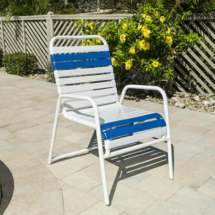 Aruba Single Strap Stackable Dining Chair