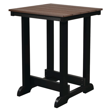 Patio Table - Tudor Brown on Black - Two Tone Color Combinations Are Available, Call for Info