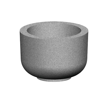 24 In. Round Concrete Planter-Planters