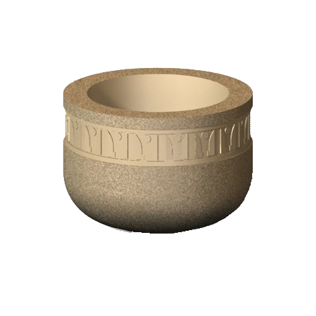 Sedona Series 24 In. Round Concrete Planter-Planters