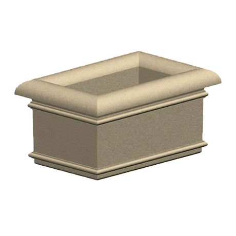Aurora Series 36 In. Concrete Planter-Planters