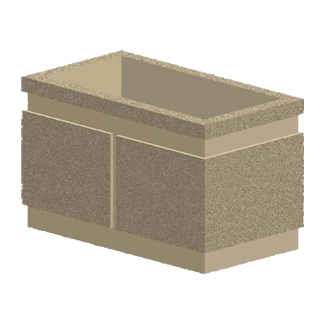 33 In. Rectangular Concrete Planter-Planters