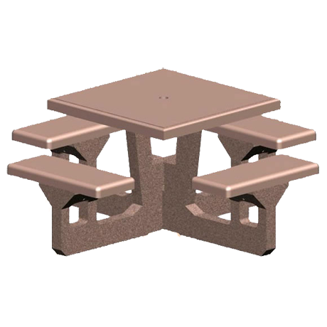 Concrete Square Top