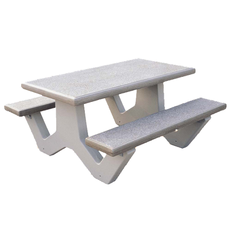 Concrete Rectangle Table-Picnic Tables