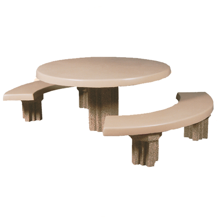 Round Concrete Pedestal Table