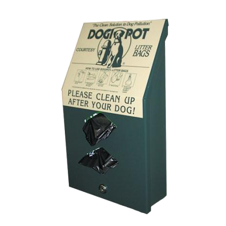 DogipotJunior Bag Dispenser, Aluminum-Pet Waste Containers