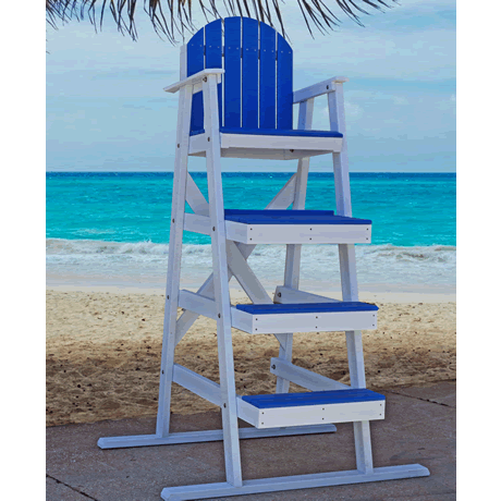 "62"" Lifeguard Chair, Surface Mount L-Bracket"