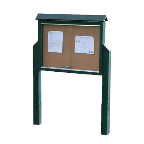 Medium Message Center, One Side, Two Posts, 36 inches wide x 29 inches high, 120 lbs.