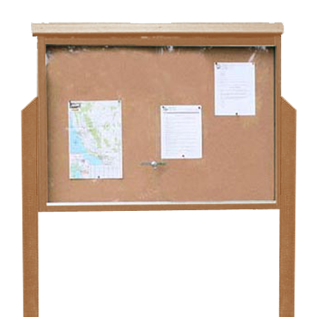 Large Message Center, One Side, Two Posts, 51 inches wide x 39 inches high, 155 lbs.