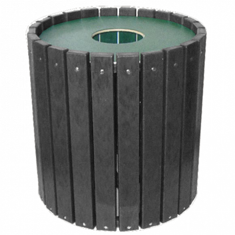 Heavy Duty Round Receptacle-Receptacles - Black