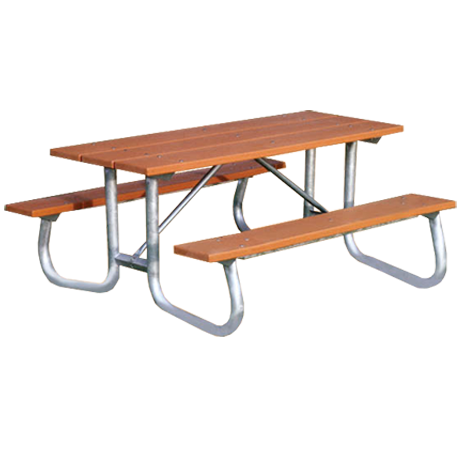 Bessemer Style with Recycled Plastic Plank Top-Picnic Tables