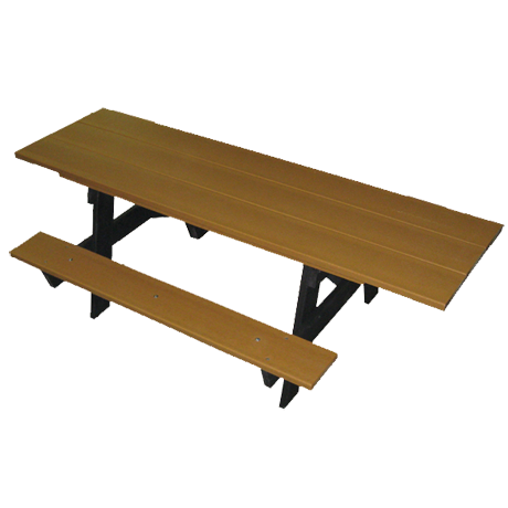 Recycled Plastic Picnic Table - A-Frame - ADA Compliant, Recycled Plastic Top, Seats, and Frame, Top: 7-1/2 ft. long, Seats: 6 ft. long, Handicap, 280 lbs.