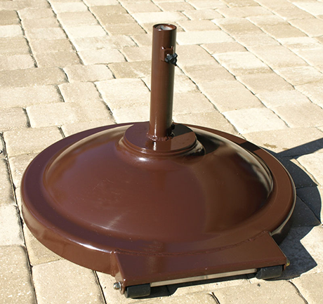 Aluminum Dome Umbrella Base with Wheels