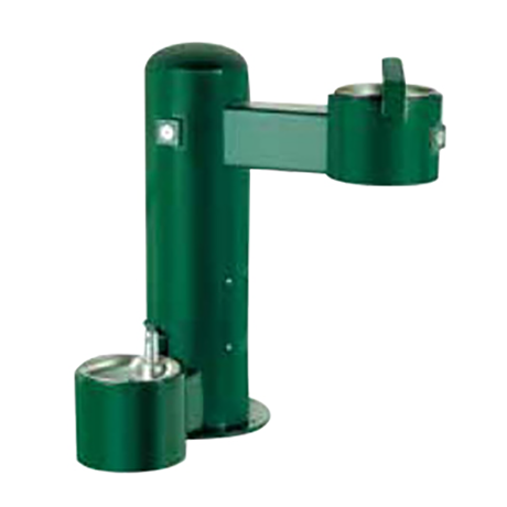 Cylindrical Pedestal Heavy Steel Drinking Fountain with Pet Fountain option (at additional cost)