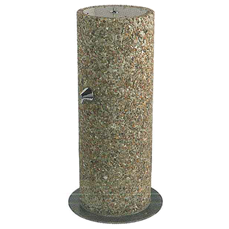 Round Aggregate Pedestal Outdoor Footwash Only