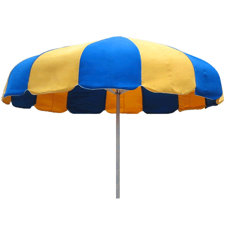 12' Classic Funbrella, Frame With I-Piece Ground Sleeve, Woven Acrylic Top