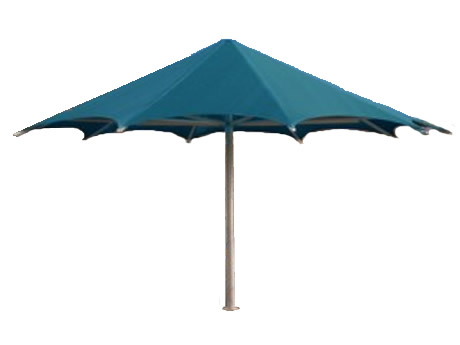 20' Palm Funbrella, Frame With I-Piece Ground Sleeve, UV Shadecloth Top