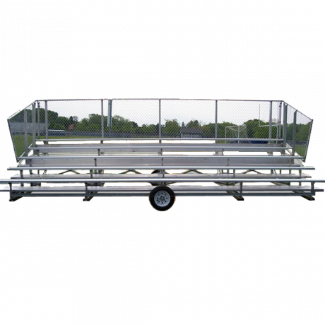 5 Row Transportable Preferred Bleacher with Chainlink Guardrail and Aluminum Frame-
