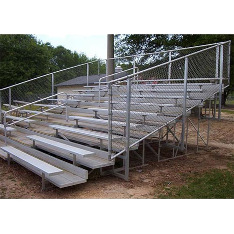 10 Row Tranportable Deluxe Bleacher with Chainlink Guardrail and Aluminum Frame-