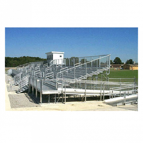 10 Row Elevated Bleachers (w/ Handicap Seating and Ramp)-