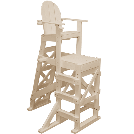Tall Lifeguard Chair with Side Steps-Lifeguard Chairs
